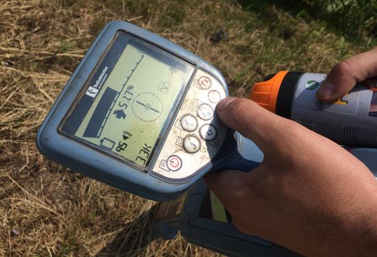 teccon_ondergrondse meting_radiodetectie toestel detail